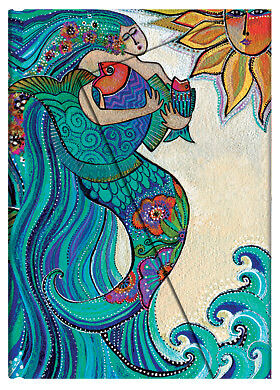 Paperblanks Laurel Burch Lined Writing Journal Ocean Song Mermaid Mini 3X5 NWT in Books, Accessories, Blank Diaries & Journals | eBay