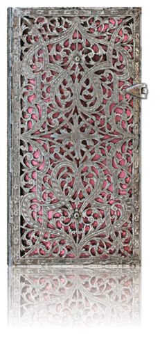 Paperblanks Writing Blank Lined Slim Size Journal Silver Filigree Pink 3x7 NWT in Books, Accessories, Blank Diaries & Journals | eBay