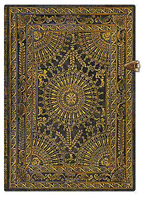"""Paperblanks Writing Journal Blank Midi Size Lined Ventaglio Marro Brn 5""""x7"""" NWT in Books, Accessories, Blank Diaries & Journals 