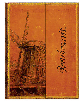 "Paperblanks Writing Journal Lined Rembrandt The Windmill Ultra Size 7""x9"" NWT in Books, Accessories, Blank Diaries & Journals 