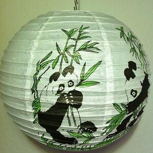 papier lampion panda kinder lampenschirm lampe h ngelampe deckenleuchte b r ebay. Black Bedroom Furniture Sets. Home Design Ideas