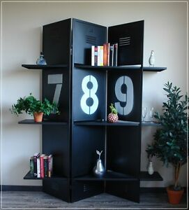 paravent metall mit regalb den schwatz regal raumteiler. Black Bedroom Furniture Sets. Home Design Ideas