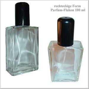Parfum-Flakon-m-Zerstaeuber-Fassettenschliff-100-ml-nachfuellbar-Leer