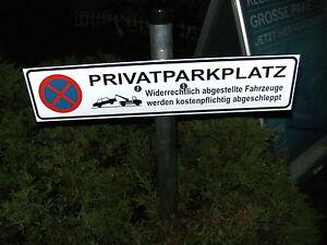 parkplatz schild privatparkplatz parken verboten mit pfosten schelle ebay. Black Bedroom Furniture Sets. Home Design Ideas