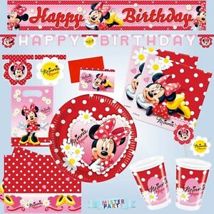 partydeko minnie mouse geburtstag kindergeburtstag party. Black Bedroom Furniture Sets. Home Design Ideas