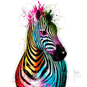 patrice murciano zebra pop fertig bild 50x50 wandbild. Black Bedroom Furniture Sets. Home Design Ideas