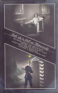 Patriotische-Postkarte-Steh-ich-in-finst-rer-Mitternacht-um-1913-n-Lobsdorf