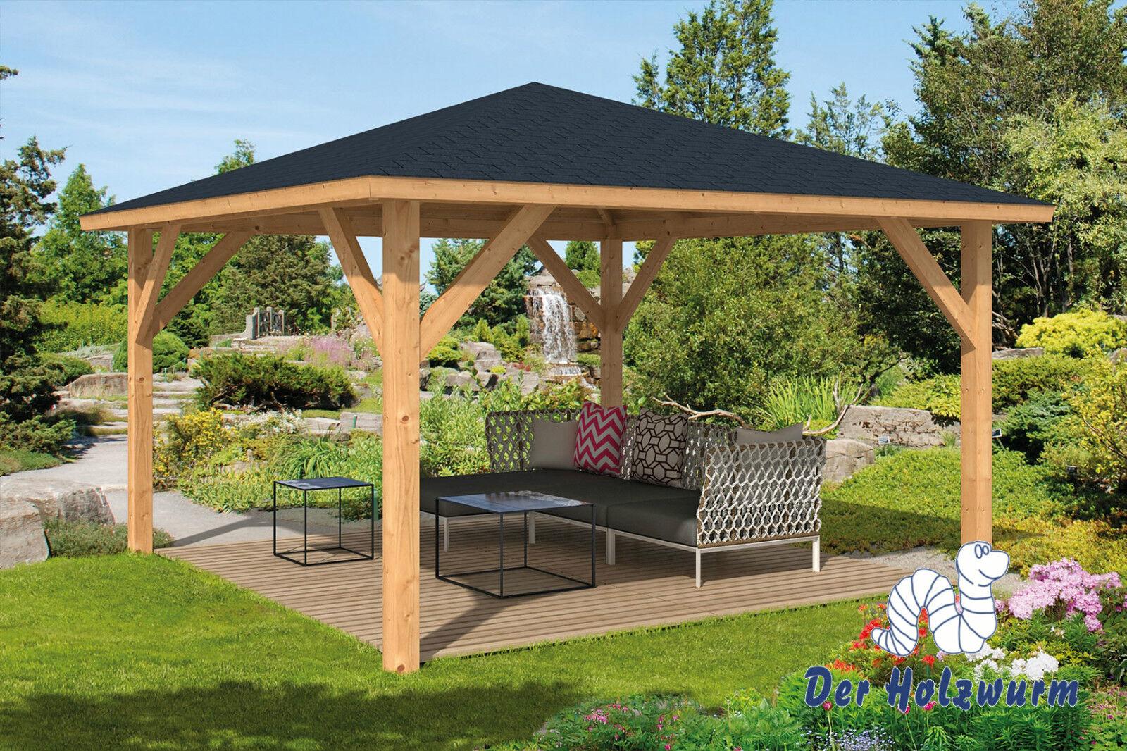 Pavillon Syros Gartenlaube 430 X 430 Cm Pfostenstärke 11,5 X 11,5 ... Gartenlaube Aus Holz Gartenpavillon