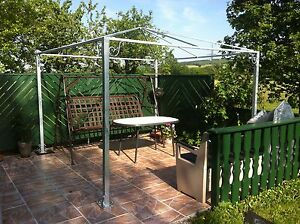 pavillon der extraklasse aus stahl feuerverzinkt partyzelt pergola garten zelt ebay. Black Bedroom Furniture Sets. Home Design Ideas