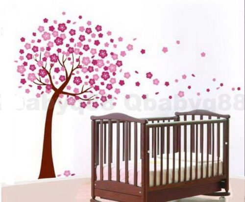 Peach blossom large flower tree Wall decal Removable stickers decor kids nursery in Baby, Nursery Decor, Wall Décor | eBay