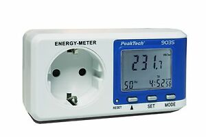 PeakTech-9035-Digital-Leistungsmesser-Energy-Meter