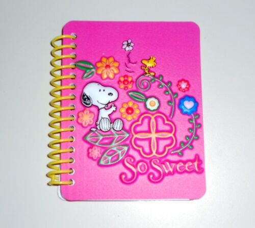 Peanuts Small Pink Puffed Out Cover 60 Sheet Spiral Snoopy Journal in Books, Accessories, Blank Diaries & Journals | eBay