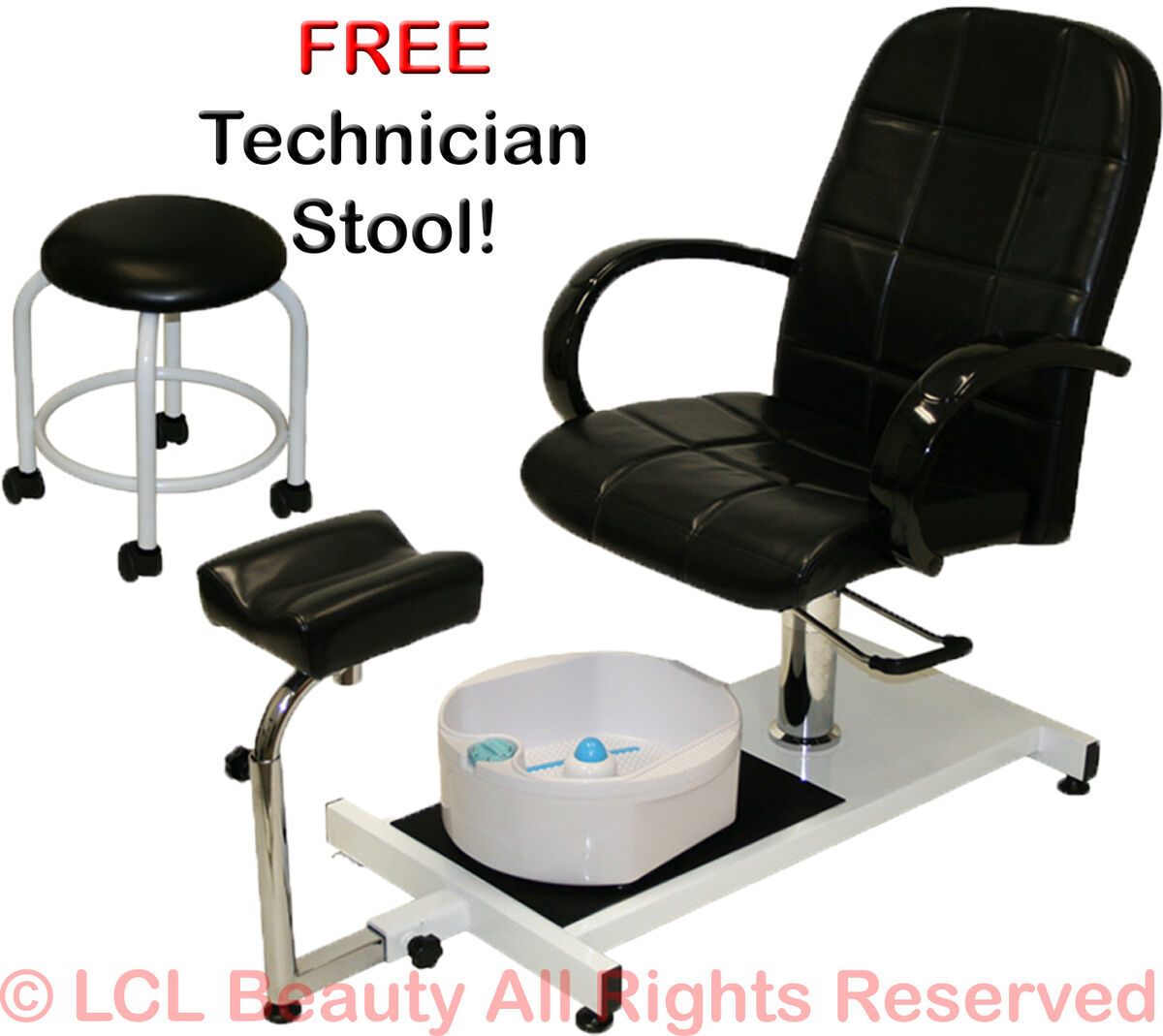 Pedicure Unit Station Hydraulic Chair Massage Foot Spa Beauty Salon Equipment