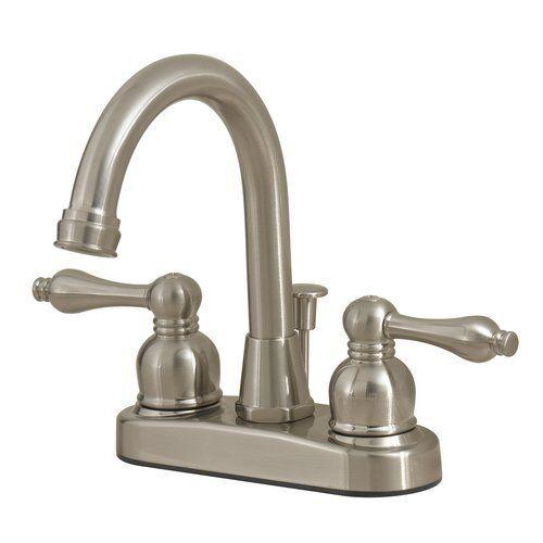 Peerless WAS00X Two Handle Centerset Bathroom Faucet with Drain - Satin Nickel in Home & Garden, Home Improvement, Plumbing & Fixtures   eBay