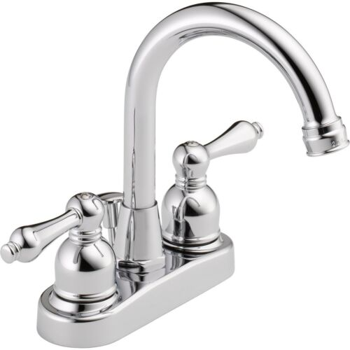 Peerless bathroom faucet 2 handle Chrome finish arc spout design WAS00XC in Home & Garden, Home Improvement, Plumbing & Fixtures | eBay