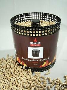 pelletkorb pellets pelletskorb kaminkorb kamin 17cm kaminofen schwedenofen ebay. Black Bedroom Furniture Sets. Home Design Ideas