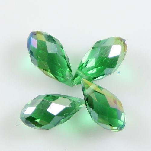 Pendants 10pcs swarovski 6*12mm teardrop crystal beads grass green AB NEW in Jewelry & Watches, Loose Beads, Crystal | eBay