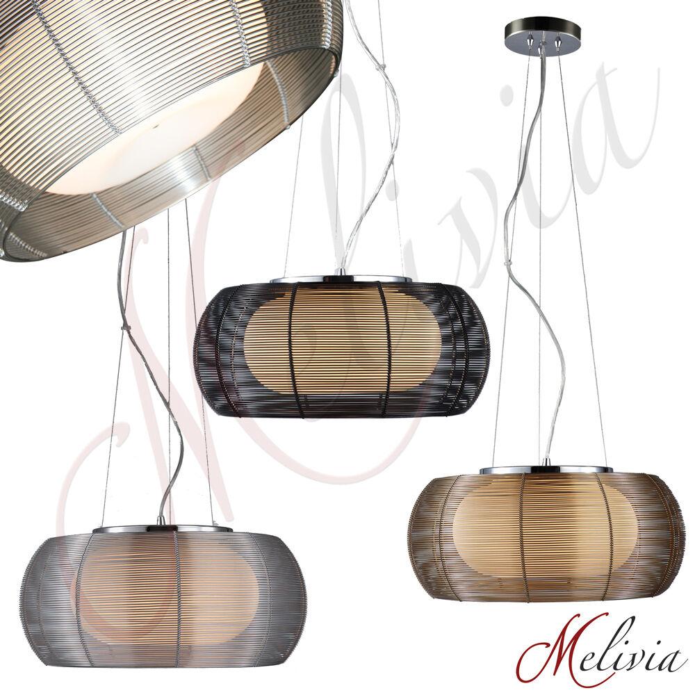 h ngelampe rot chrom schwarz weiss gold pendelleuchte deckenlampe leuchte lang ebay. Black Bedroom Furniture Sets. Home Design Ideas