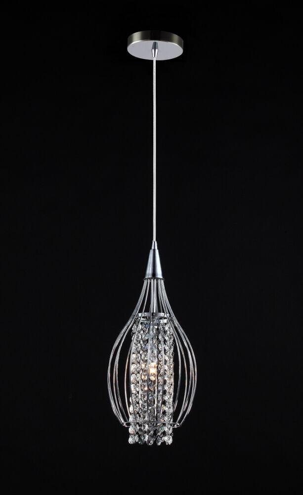 pendelleuchte kristall chrom drahtschirm pendellampe h ngelampe h ngeleuchte neu. Black Bedroom Furniture Sets. Home Design Ideas