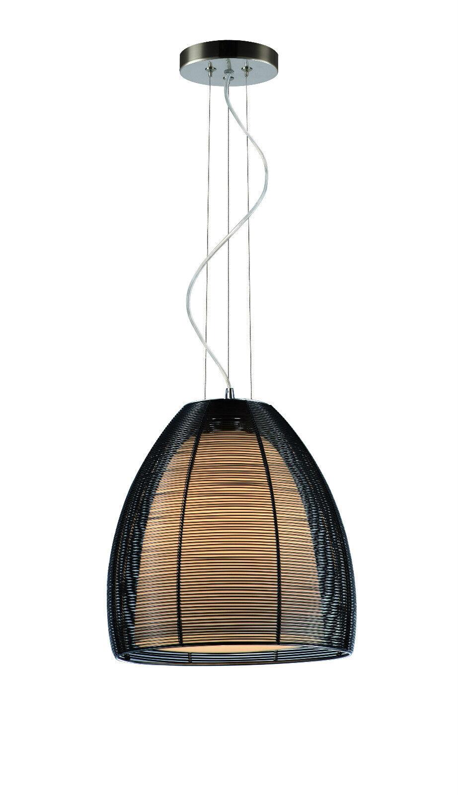pendelleuchte drop lighting cluster drahtschirm innen opalglas inklusive led ebay. Black Bedroom Furniture Sets. Home Design Ideas