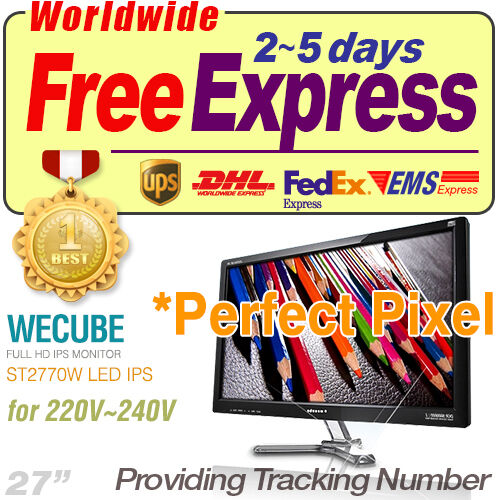"[Perfect Pixel] New WECUBE ST2770W LED IPS 27"" 2560x1440 WQHD HDMI PC Monitor in Computers/Tablets & Networking, Monitors, Projectors & Accs, Monitors 
