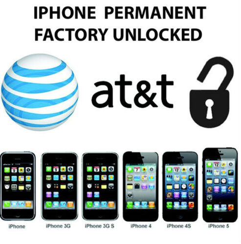 Permanent iPhone 2g 3g 3gs 4g 4s 5 Unlock AT&T USA Factory Unlocked ATT in Specialty Services, Other Services | eBay