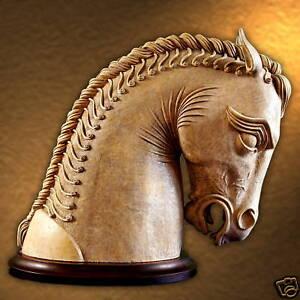 Persian Horse Sculpture Art Animal Home Garden Decor eBay