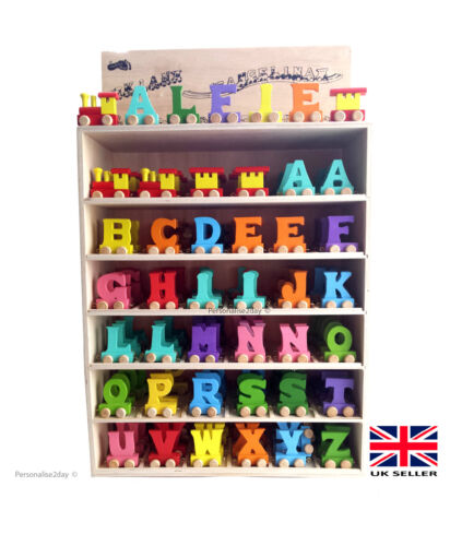 Toy Names A Z : Personalised kids name wooden train letters scrabble