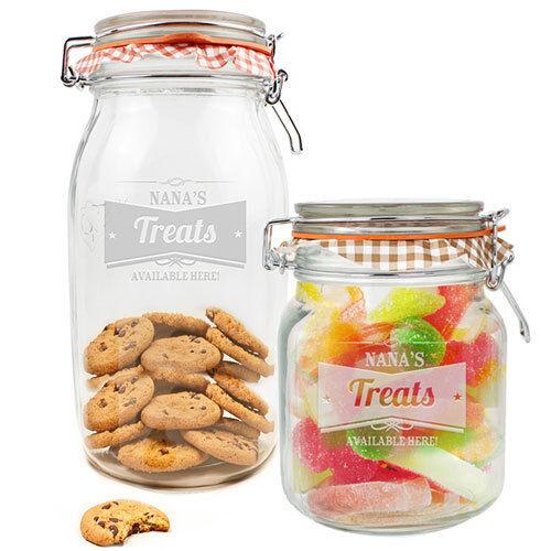 Personalised kilner glass storage jar 3 designs kitchen for Glass jar kitchen ideas