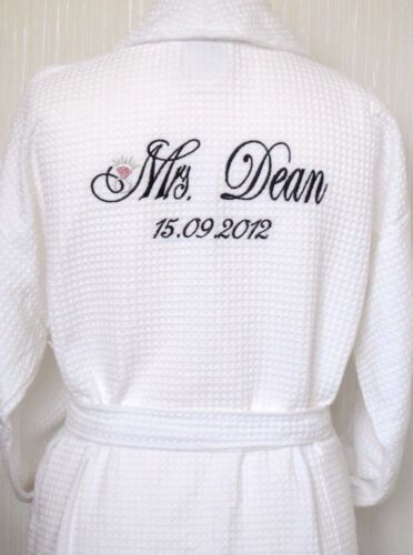Personalised wedding dressing gowns for Mr and mrs spa
