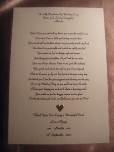 Wedding Day Poems From Daughter to Father