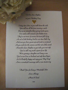 Personalised Wedding Poem Scroll