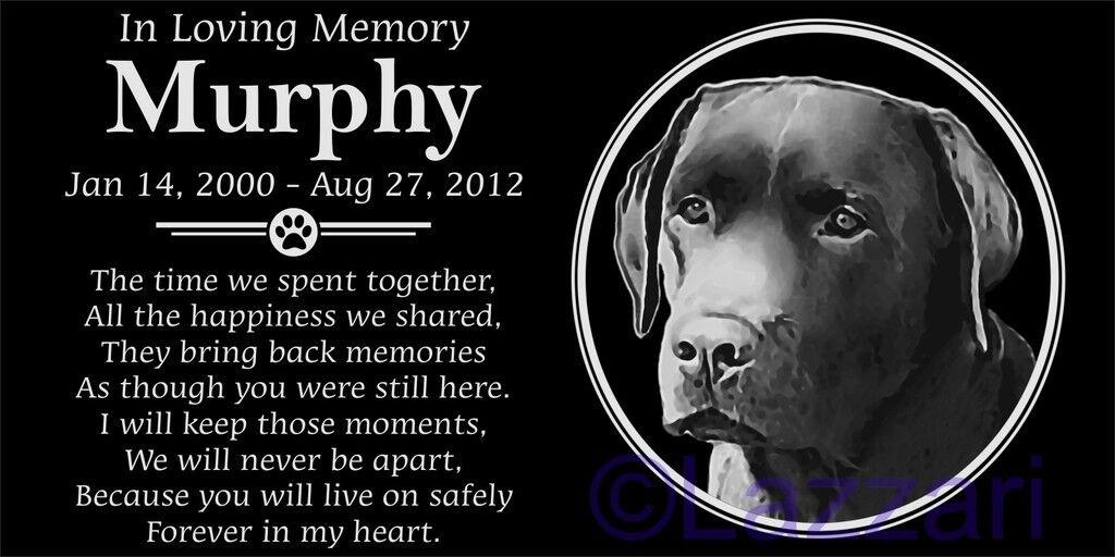 Personalized Chocolate Labrador Retriever Dog Lab Pet Memorial 12x6 Grave Marker