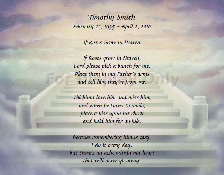 Personalized Memorial Poem For Loss Of Father