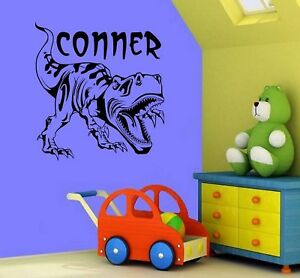 Personalized T-Rex Dinosaur Wall Decal Sticker 23x21 in Home & Garden, Kids & Teens at Home, Bedroom, Playroom & Dorm Decor | eBay
