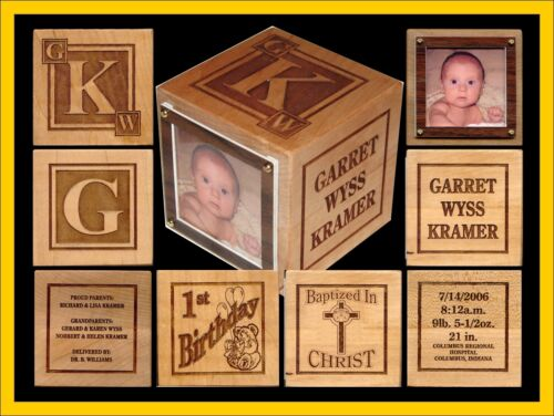 Personalized Wood New Baby Block Gift LARGE SIZE in Baby, Keepsakes & Baby Announcements, Other | eBay
