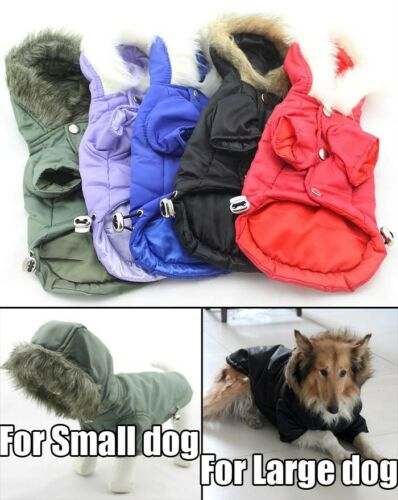 Pet Clothing Dog Coats for Small Large Big Dog Winter Clothes Hoodie 5 Colors in Pet Supplies, Dog Supplies, Apparel | eBay