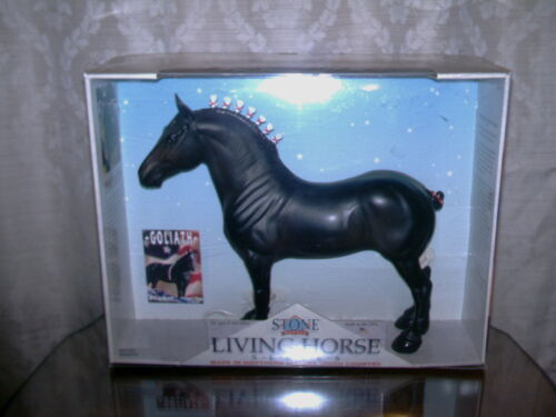 Peter Stone Traditional Horse ~ GOLIATH ~ Percheron Draft Horse in Collectibles, Animals, Horses: Model Horses | eBay