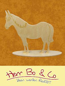 Pferd Bauernhof Holz Tischschmuck Basteln Malen Reiten Ebay