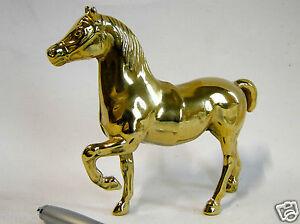 pferd messing pferdefigur tierfigur 14x15cm vitrinen deko messing pferd neu ebay. Black Bedroom Furniture Sets. Home Design Ideas