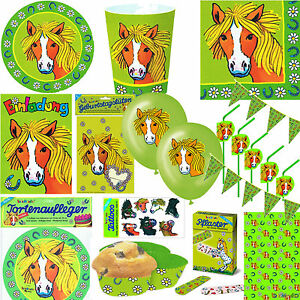 pferde pony alles zum kindergeburtstag von lutz mauder partyset ponys deko ebay. Black Bedroom Furniture Sets. Home Design Ideas
