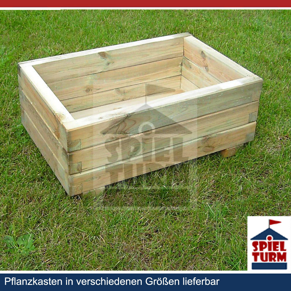 hoq pflanzkasten 80x40 cm pflanztrog pflanzk bel aus holz garten blumenkasten ebay. Black Bedroom Furniture Sets. Home Design Ideas