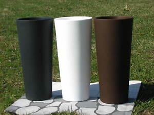 pflanzk 252 bel blumenk 252 bel runder hoch blumentopf mit einsatz kunststoff 31xh 70 cm ebay
