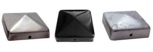 4 X Pfostenkappe verzinkt 7x7 cm Pyramide Abdeckkappe Pfosten Abdeckung 71x71 mm