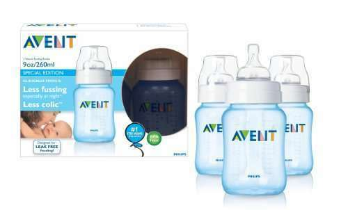 Philips AVENT Feeding Bottle BPA FREE 9oz x3 Slow Flow - PINK or BLUE in Baby, Feeding, Baby Bottles | eBay
