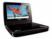 "Philips PET741 Portable DVD Player (7"")"