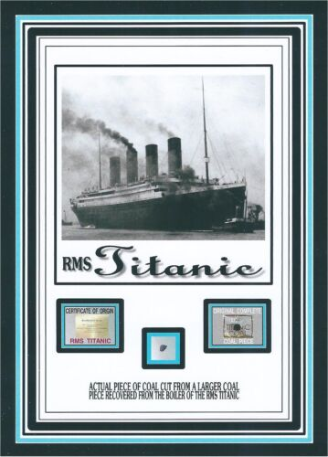 Piece of genuine original coal from the TITANIC w/COA in Collectibles, Historical Memorabilia, Other | eBay