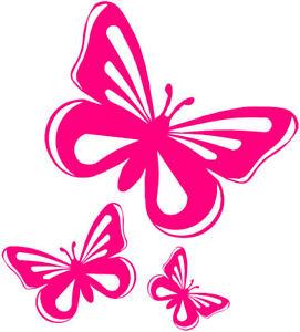 Pink Butterfly Vinyl Stickers Decals Car Window Van  eBay