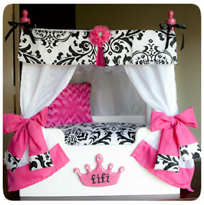 Princess  Canopy Ebay on Princess Dog Bed  Canopy Bed  Girls Furniture  Small Puppy   Ebay