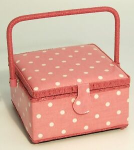 Pink-Polka-Dots-Sewing-Knitting-Basket-Box-Sewing-Kit